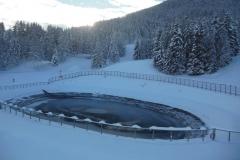 1 des réserve d'eau de canon à neige
