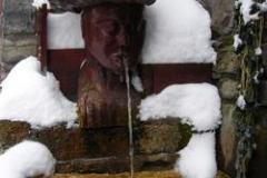 bassin en bois sculpté