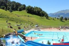 piscine en été