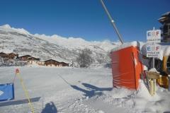 départ cours de ski ESF